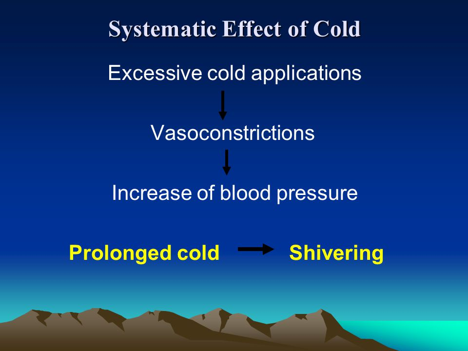 Systematic Effect of Cold