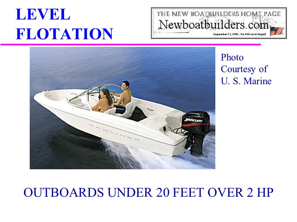 OUTBOARDS UNDER 20 FEET OVER 2 HP