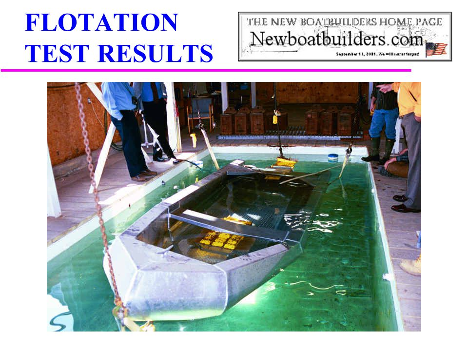 FLOTATION TEST RESULTS