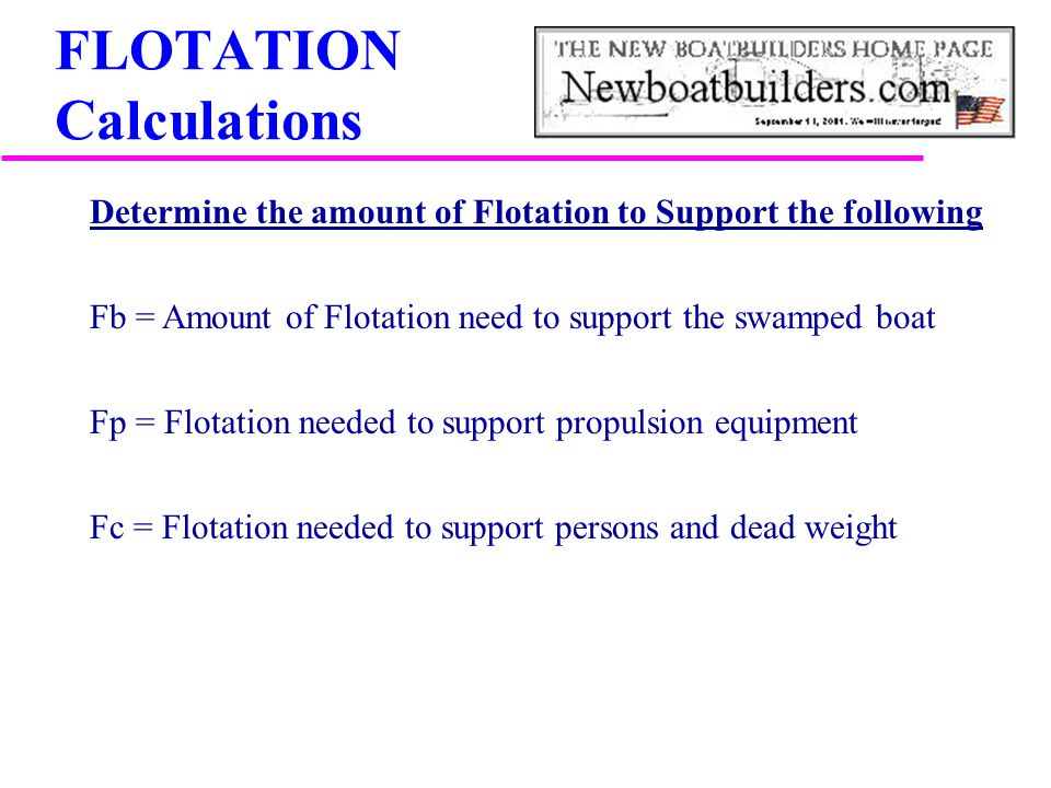 FLOTATION Calculations