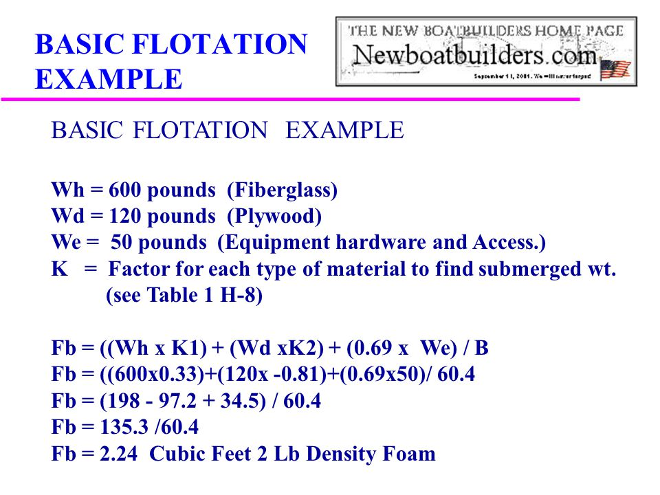 BASIC FLOTATION EXAMPLE