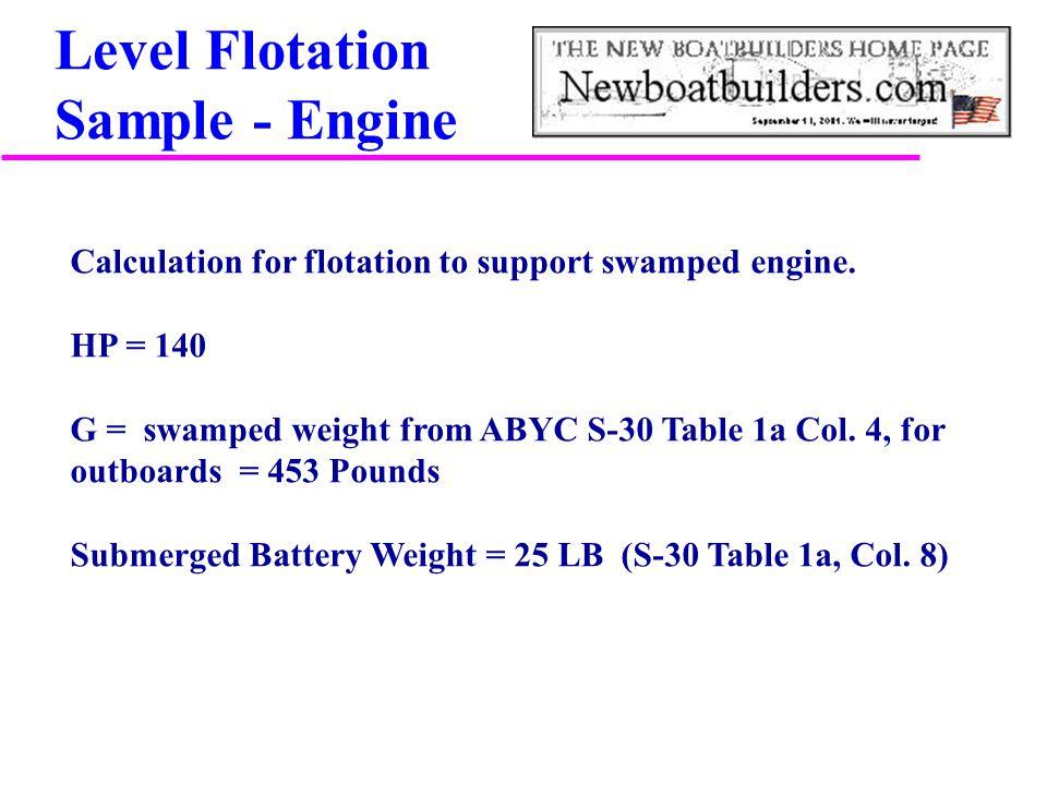 Level Flotation Sample - Engine