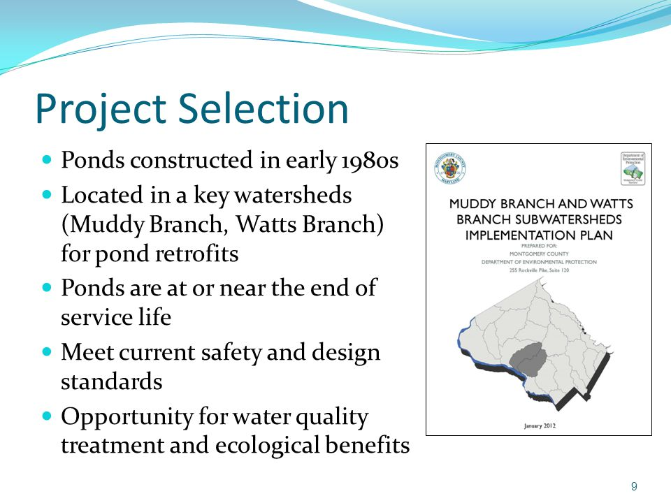 Potomac ridge stormwater management project ppt video for Design criteria of oxidation pond