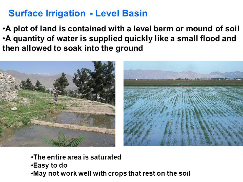Surface Irrigation - Level Basin