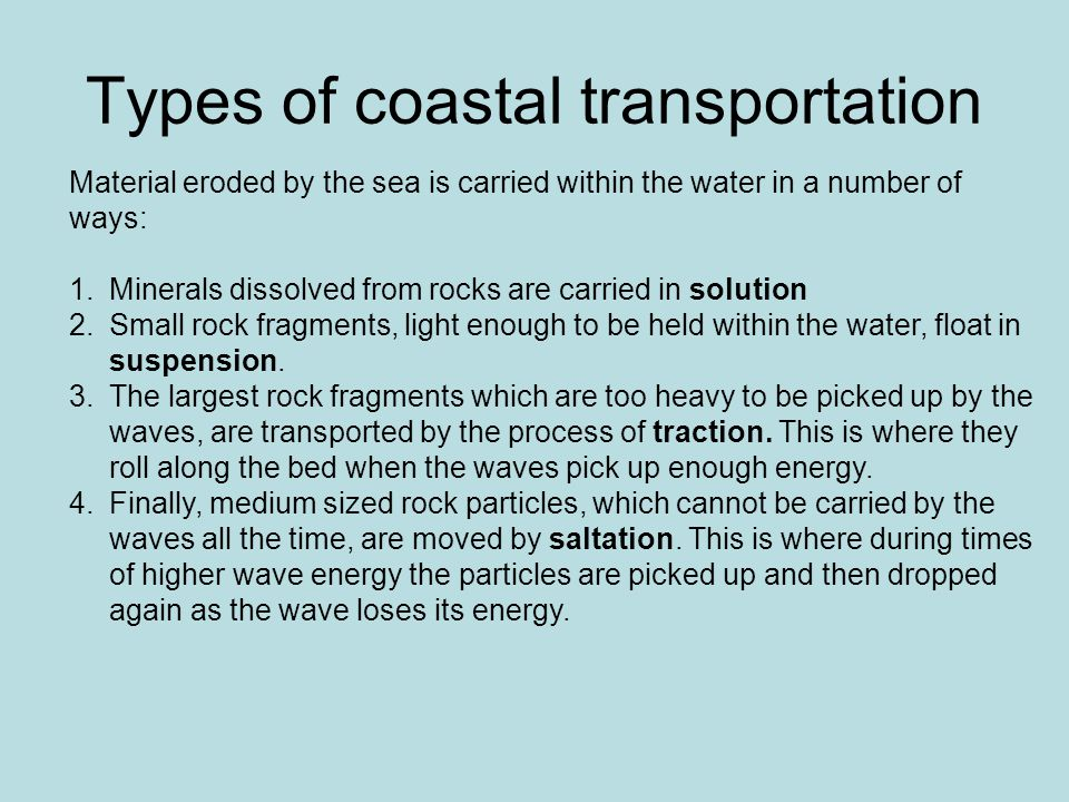 Types of coastal transportation