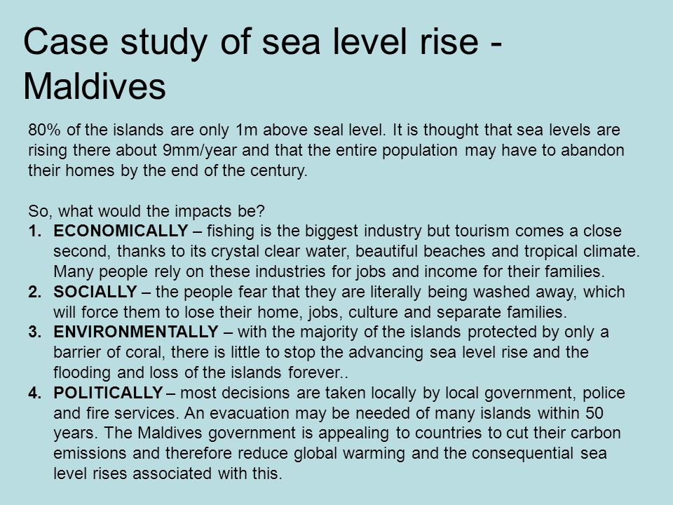 Case study of sea level rise - Maldives