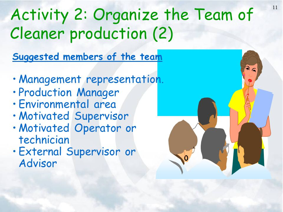Activity 2: Organize the Team of Cleaner production (2)
