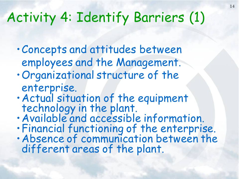Activity 4: Identify Barriers (1)