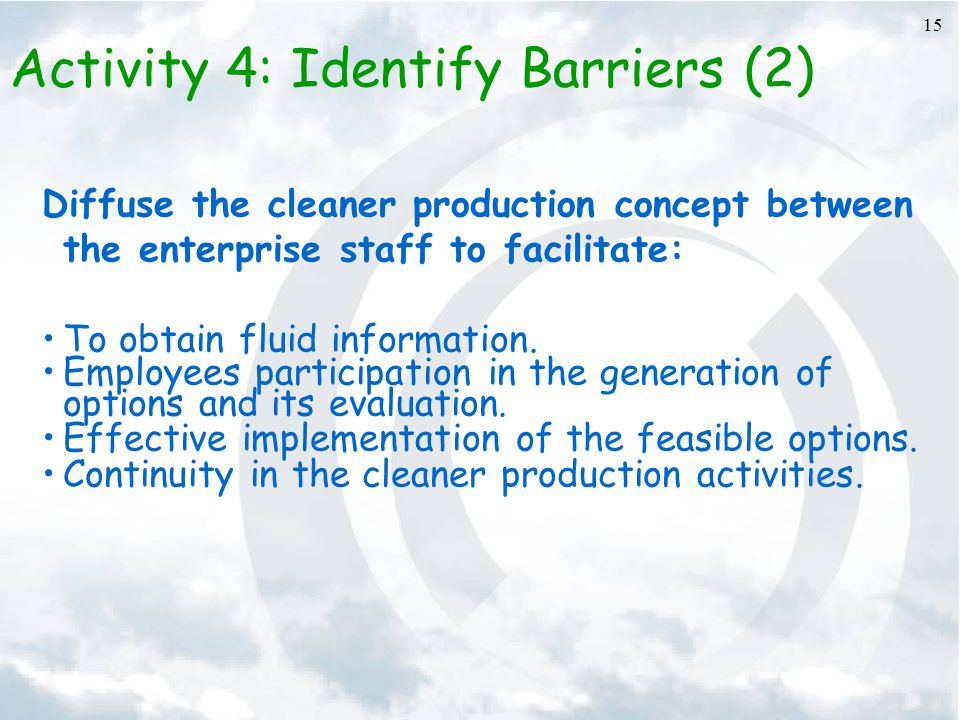 Activity 4: Identify Barriers (2)