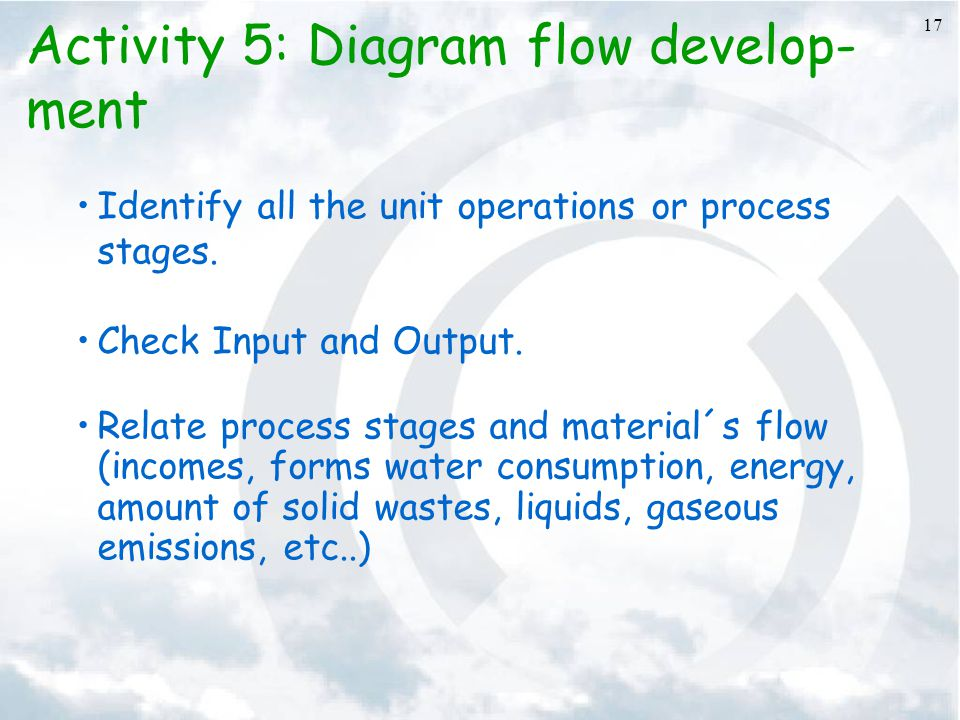 Activity 5: Diagram flow develop-ment