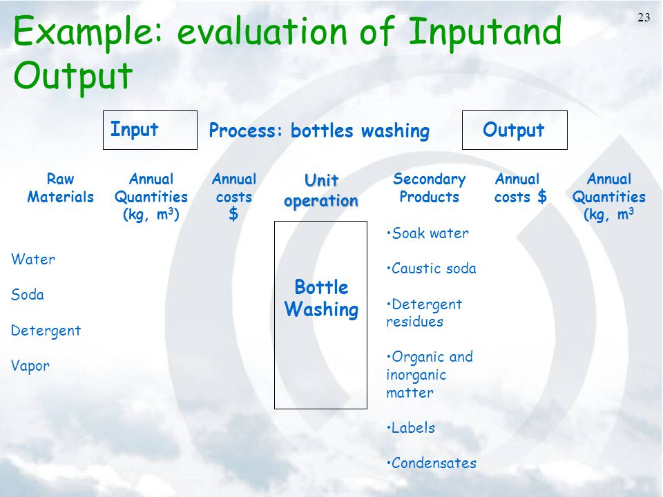 Example: evaluation of Inputand Output