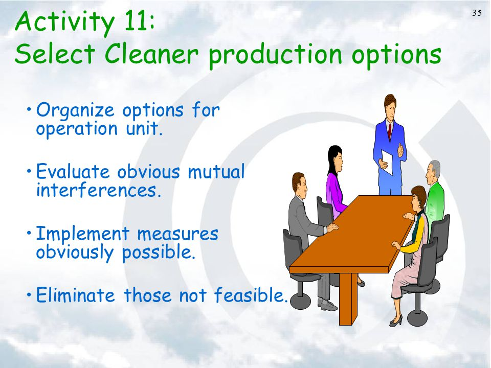 Select Cleaner production options