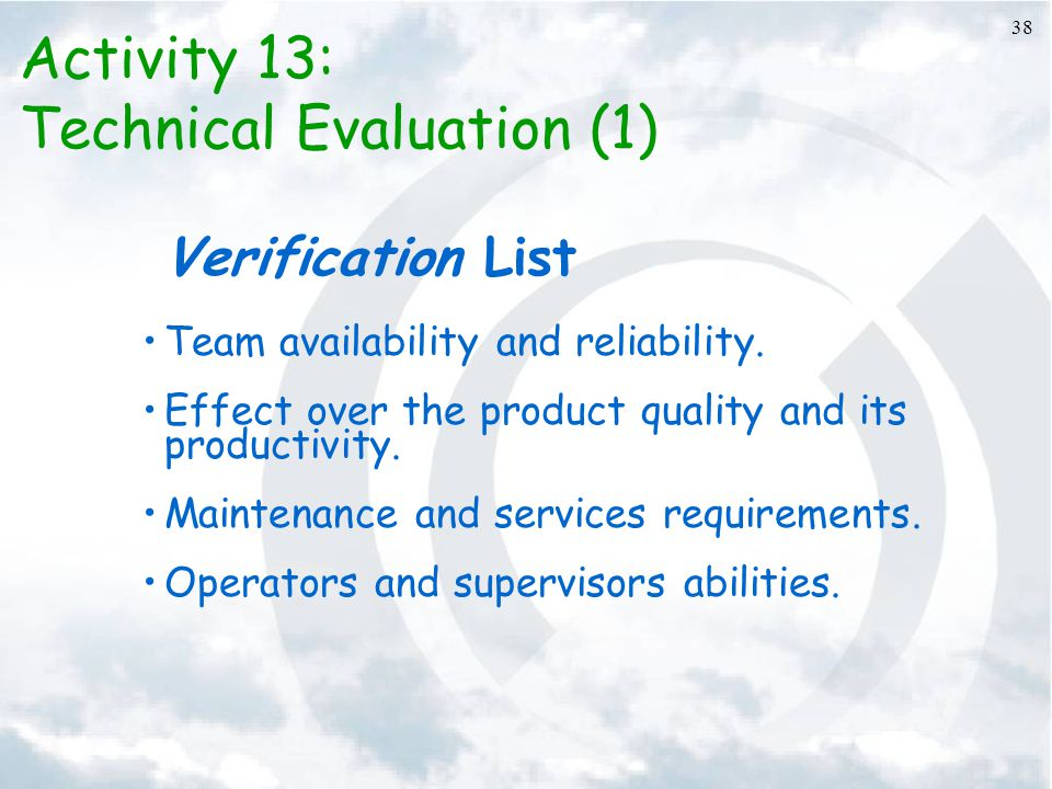 Technical Evaluation (1)