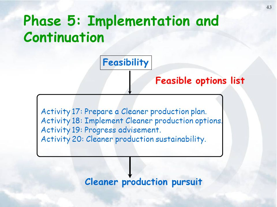 Phase 5: Implementation and Continuation