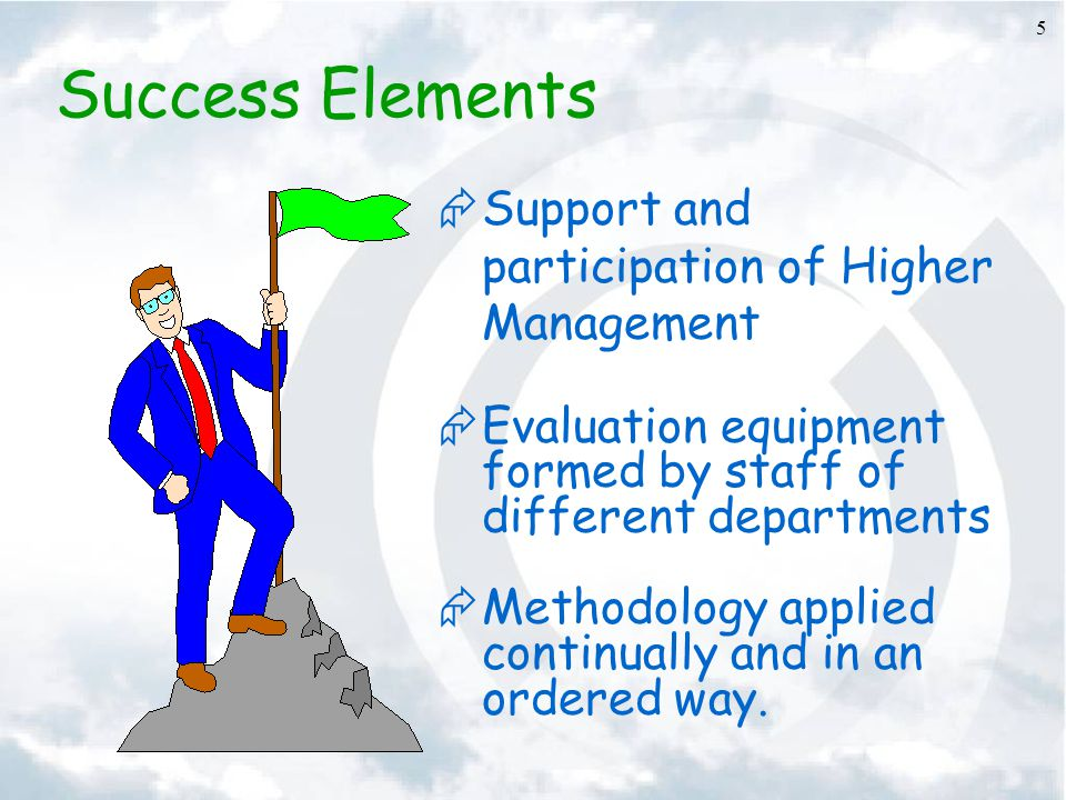 Success Elements Support and participation of Higher Management