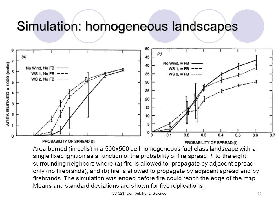 Simulation: homogeneous landscapes