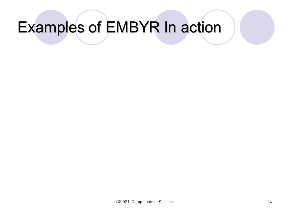 Examples of EMBYR In action
