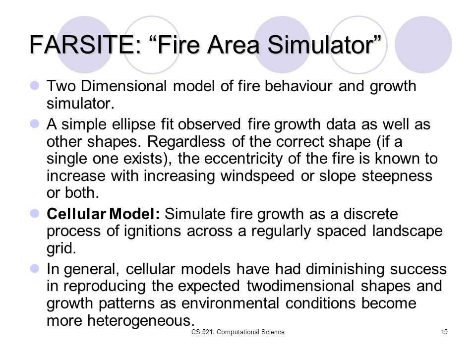 FARSITE: Fire Area Simulator
