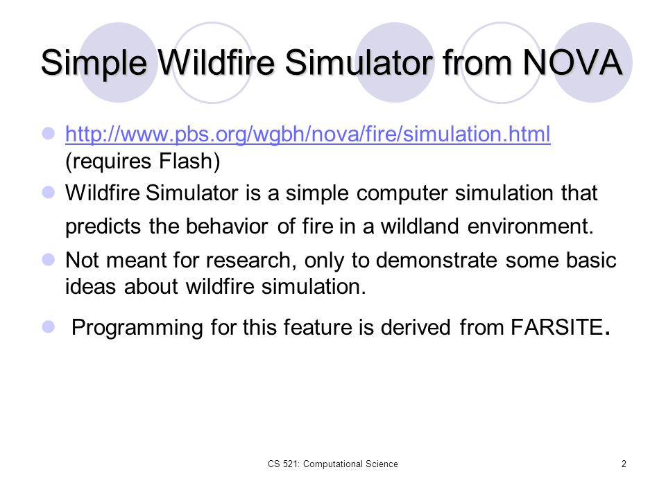 Simple Wildfire Simulator from NOVA