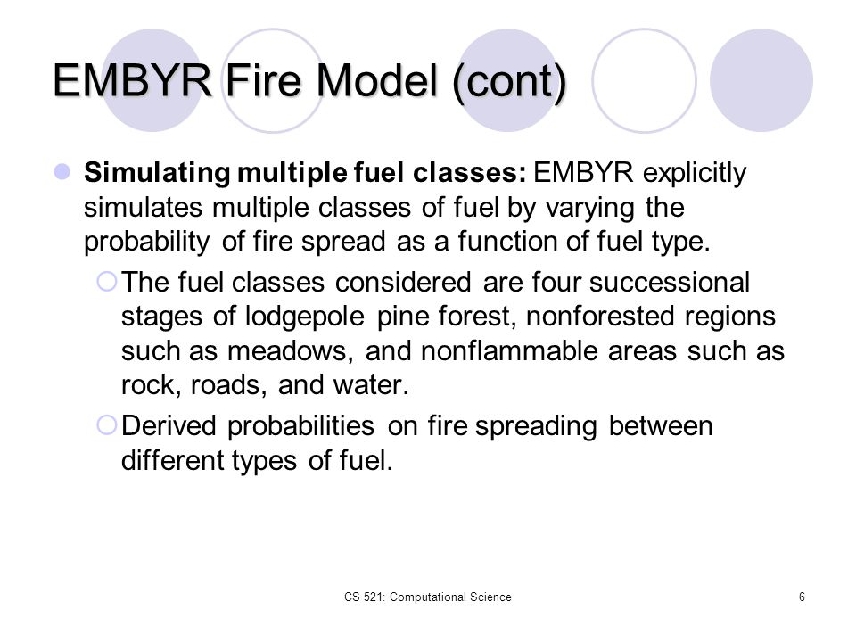 EMBYR Fire Model (cont)