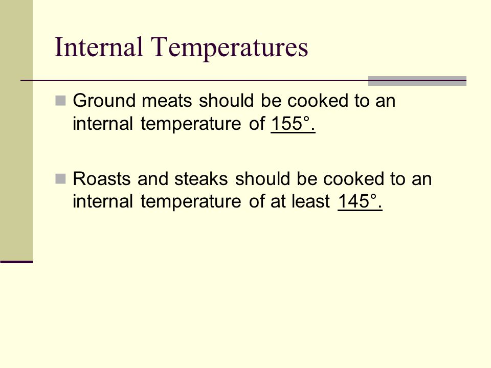 Internal Temperatures