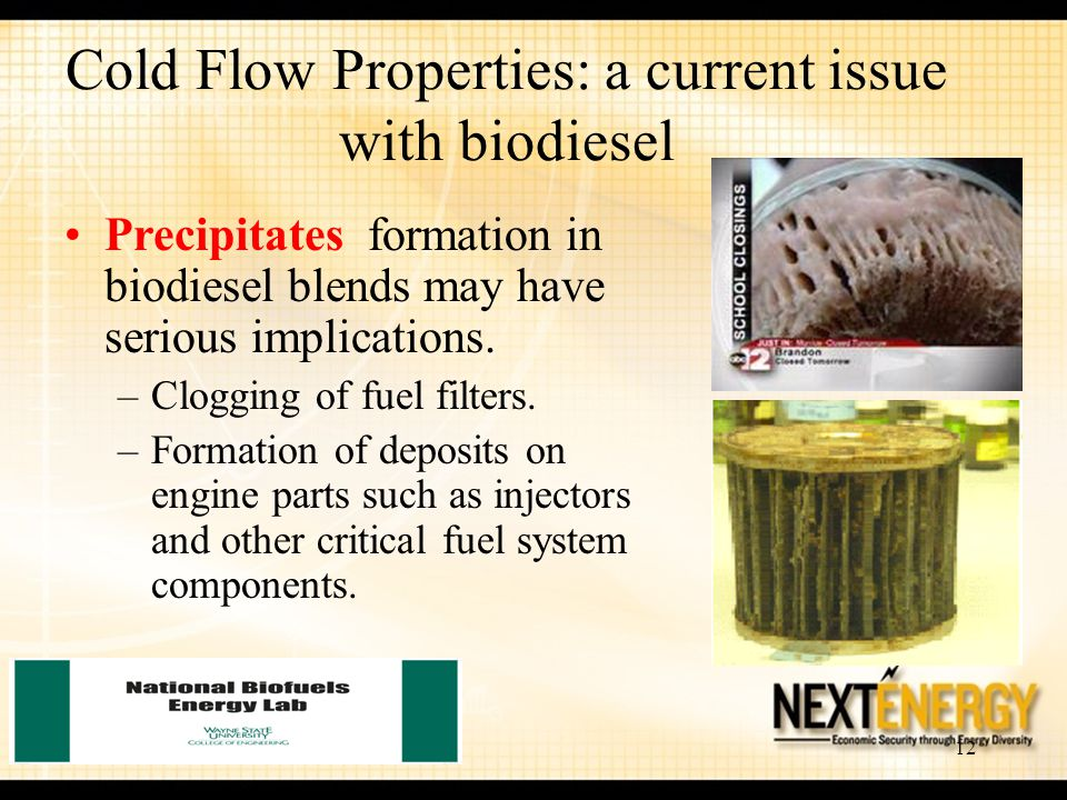 Cold Flow Properties: a current issue with biodiesel