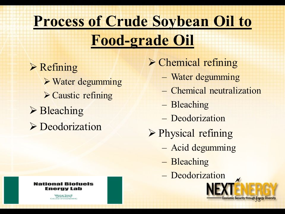 Process of Crude Soybean Oil to Food-grade Oil