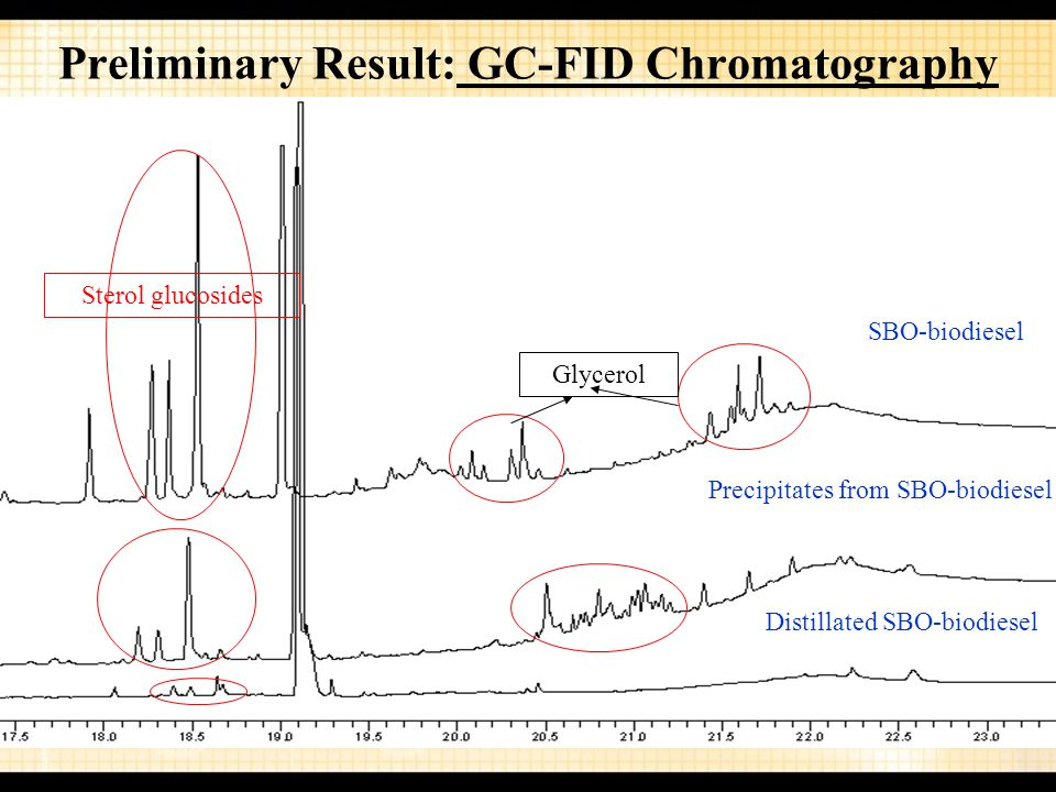 Preliminary Result: GC-FID Chromatography