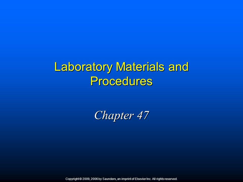 Laboratory Materials and Procedures