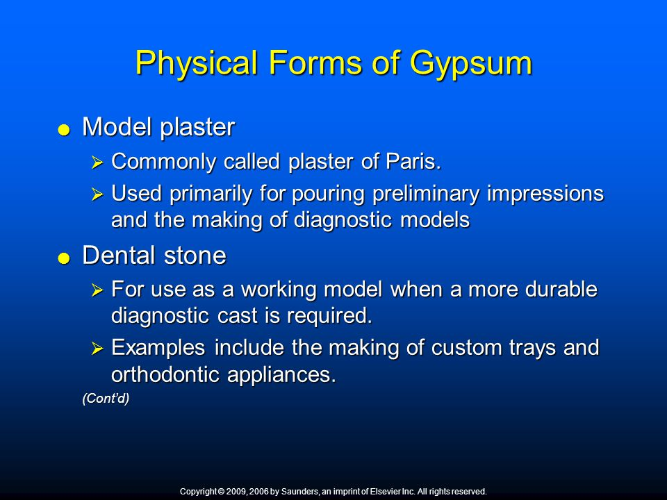 Physical Forms of Gypsum
