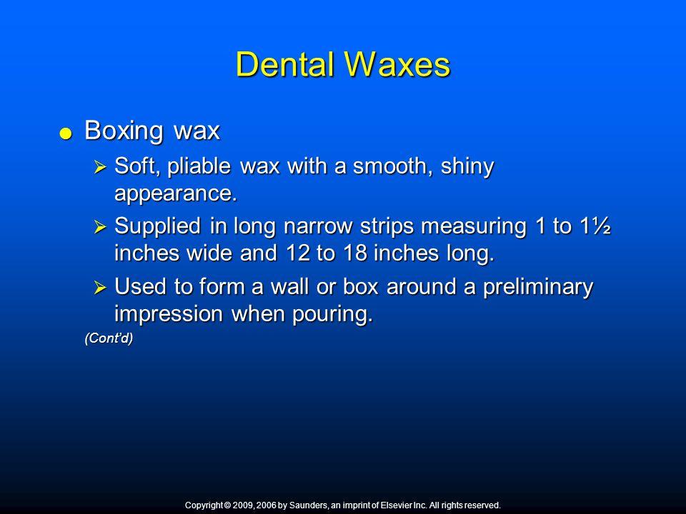 Dental Waxes Boxing wax