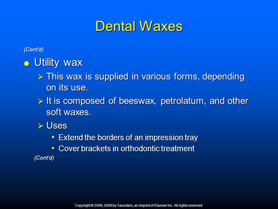 Dental Waxes Utility wax