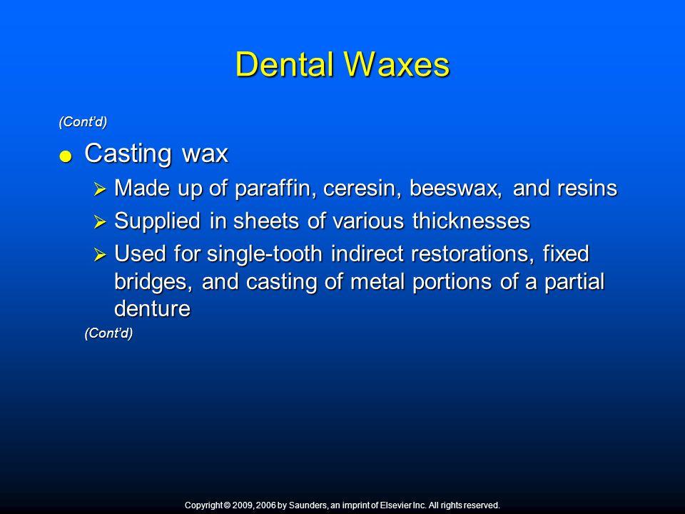 Dental Waxes Casting wax