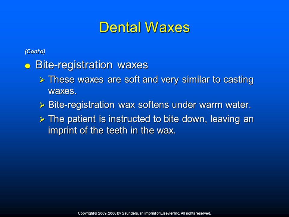 Dental Waxes Bite-registration waxes