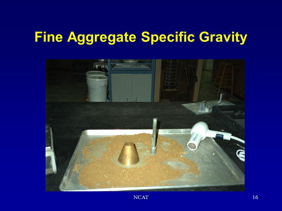 Fine Aggregate Specific Gravity