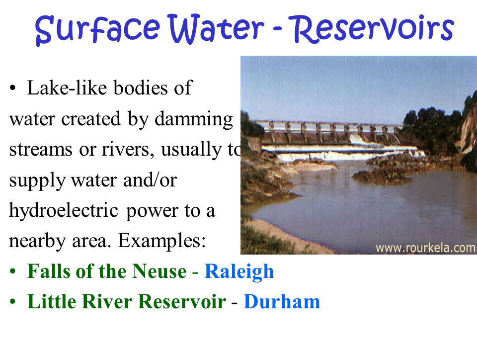 Surface Water - Reservoirs