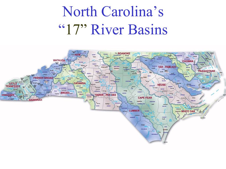 North Carolina's 17 River Basins