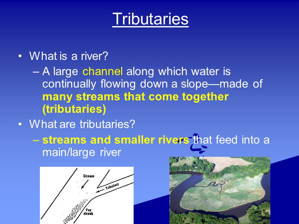 Tributaries What is a river