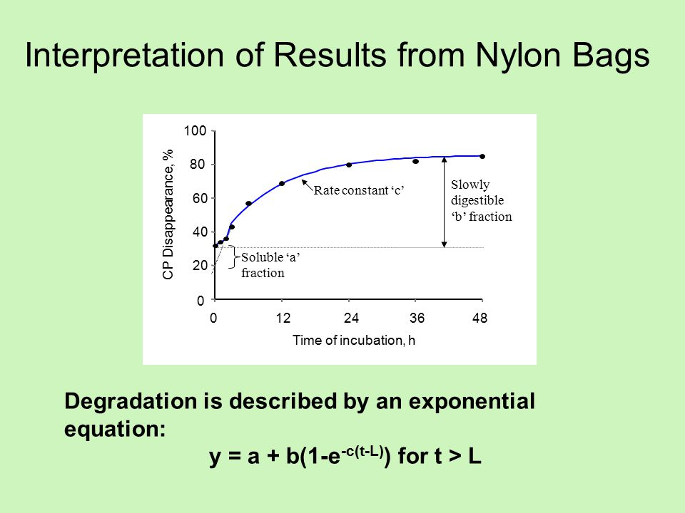 Interpretation of Results from Nylon Bags