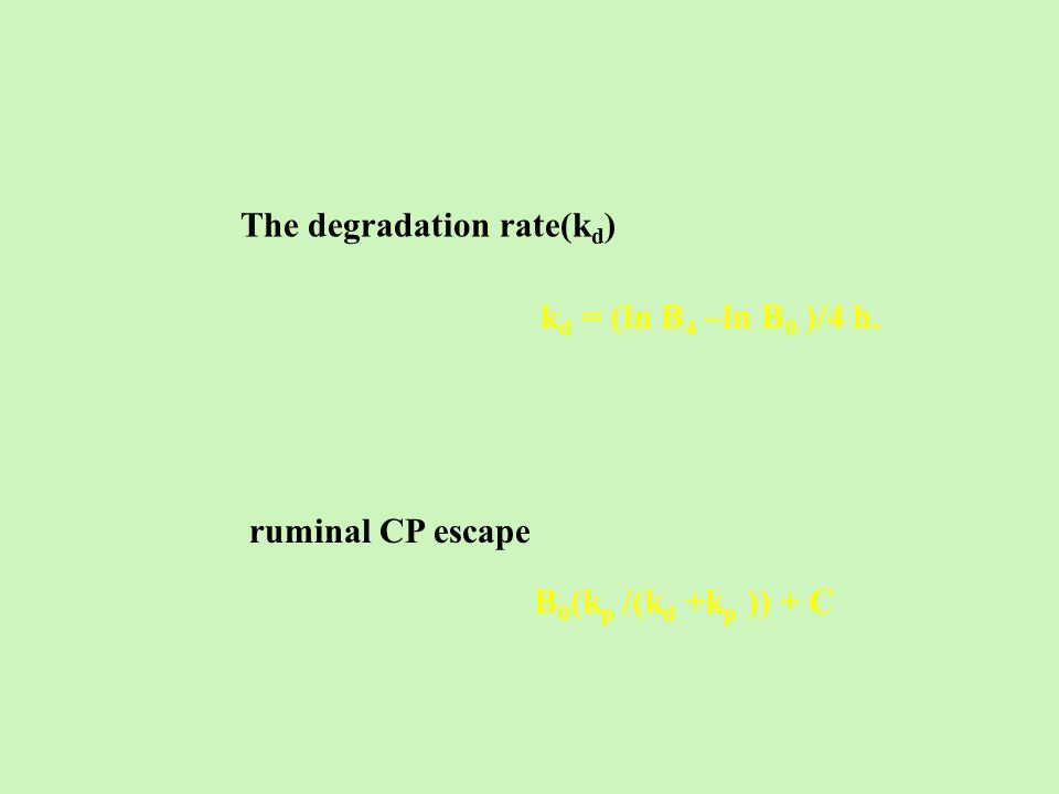 The degradation rate(kd)