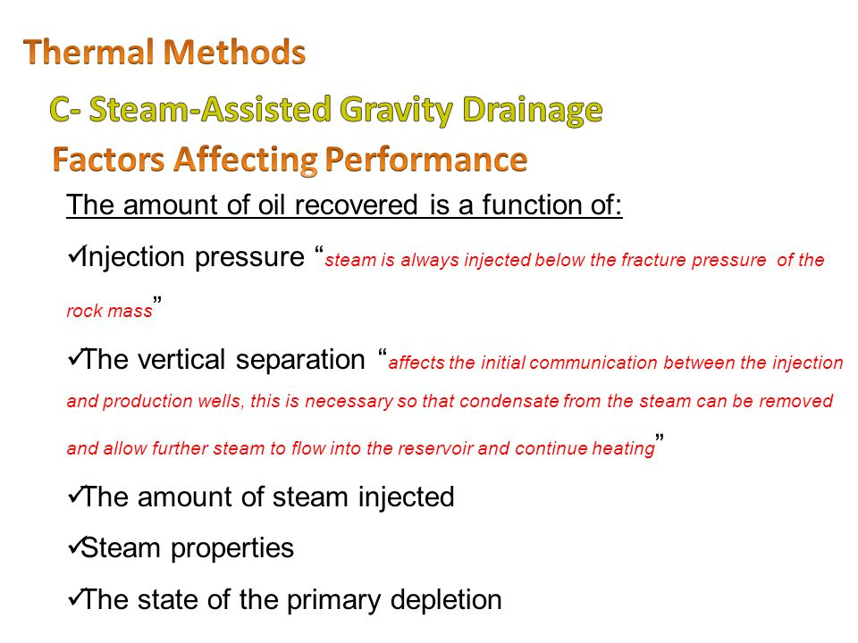 C- Steam-Assisted Gravity Drainage Factors Affecting Performance