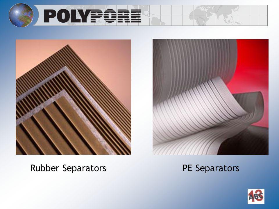 Rubber Separators PE Separators