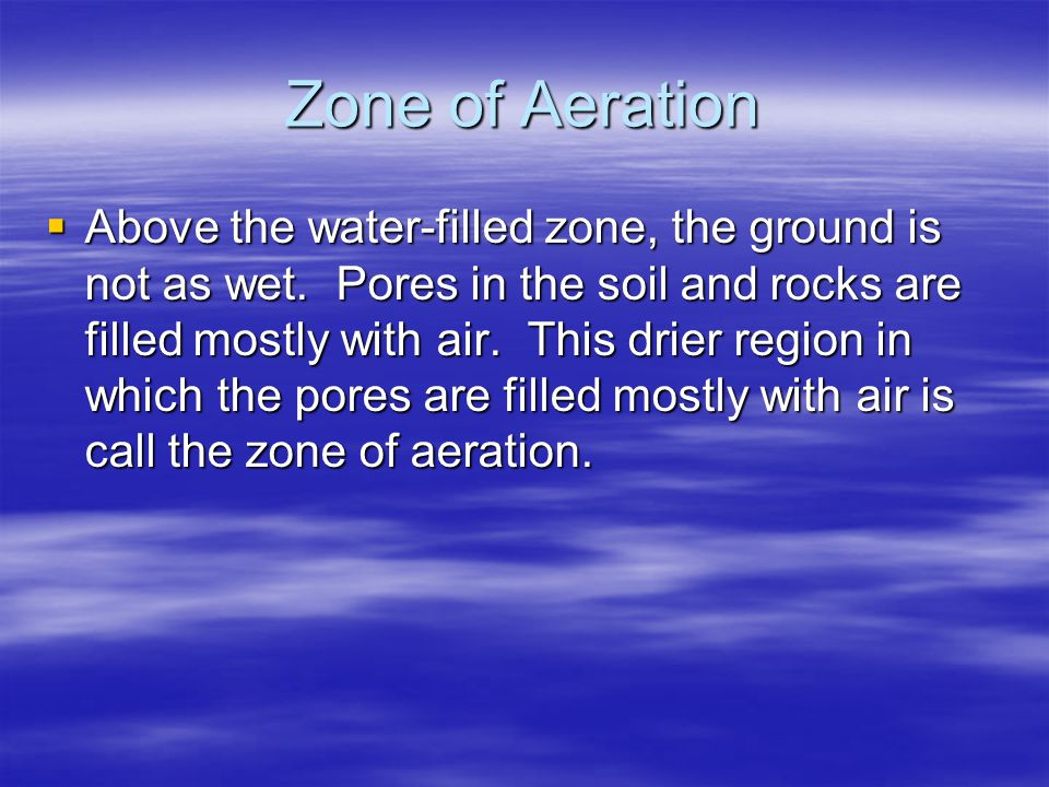 Zone of Aeration