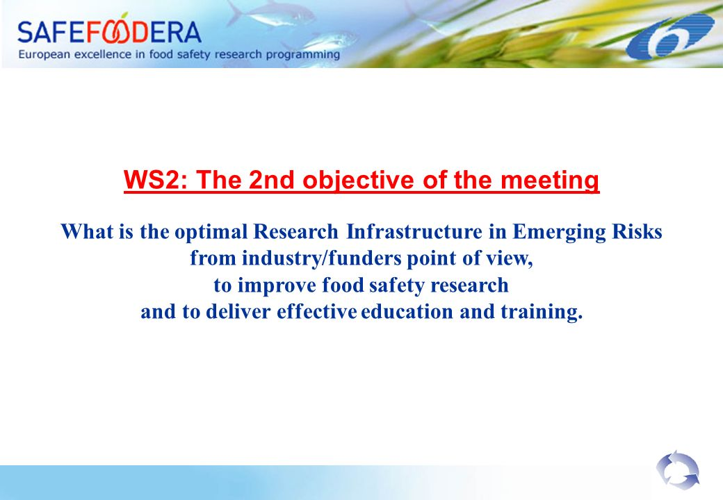WS2: The 2nd objective of the meeting