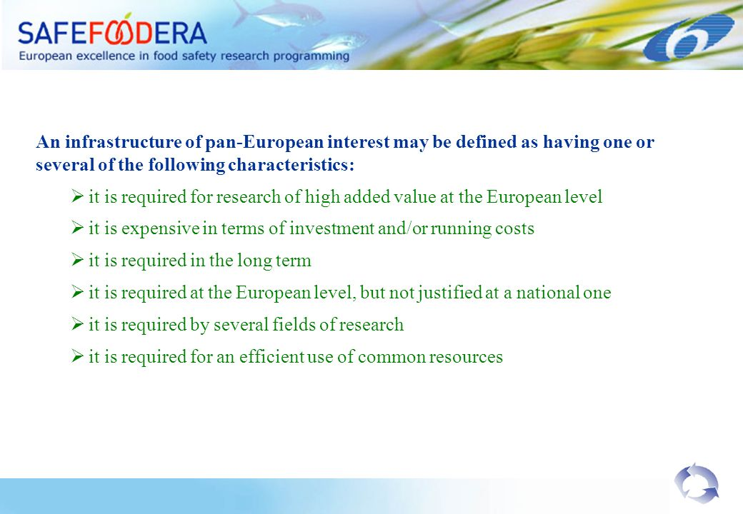 An infrastructure of pan-European interest may be defined as having one or