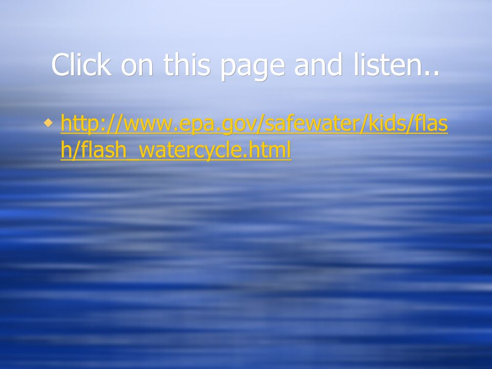 Click on this page and listen..