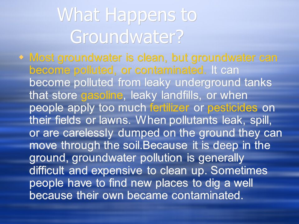 What Happens to Groundwater