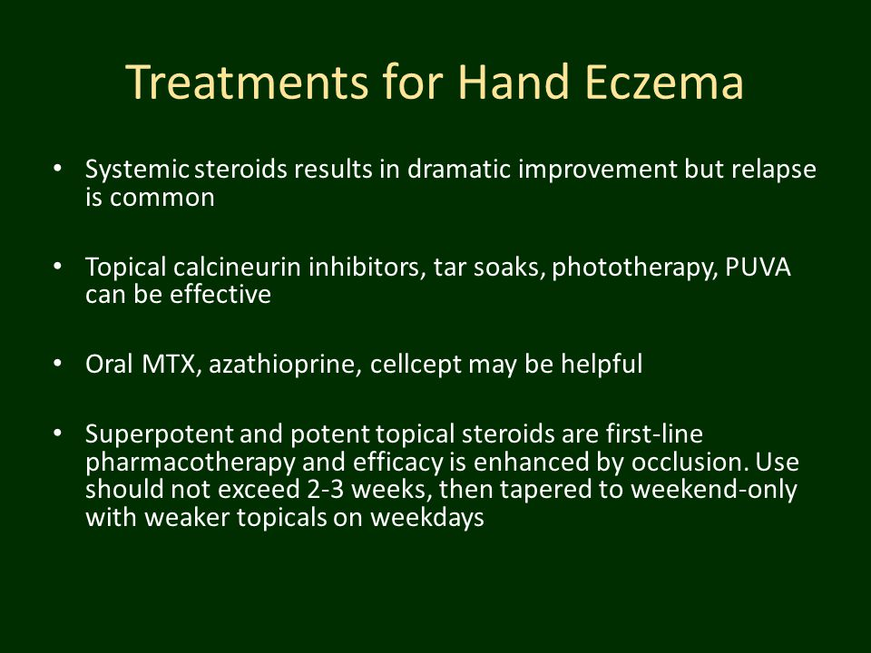 Treatments for Hand Eczema