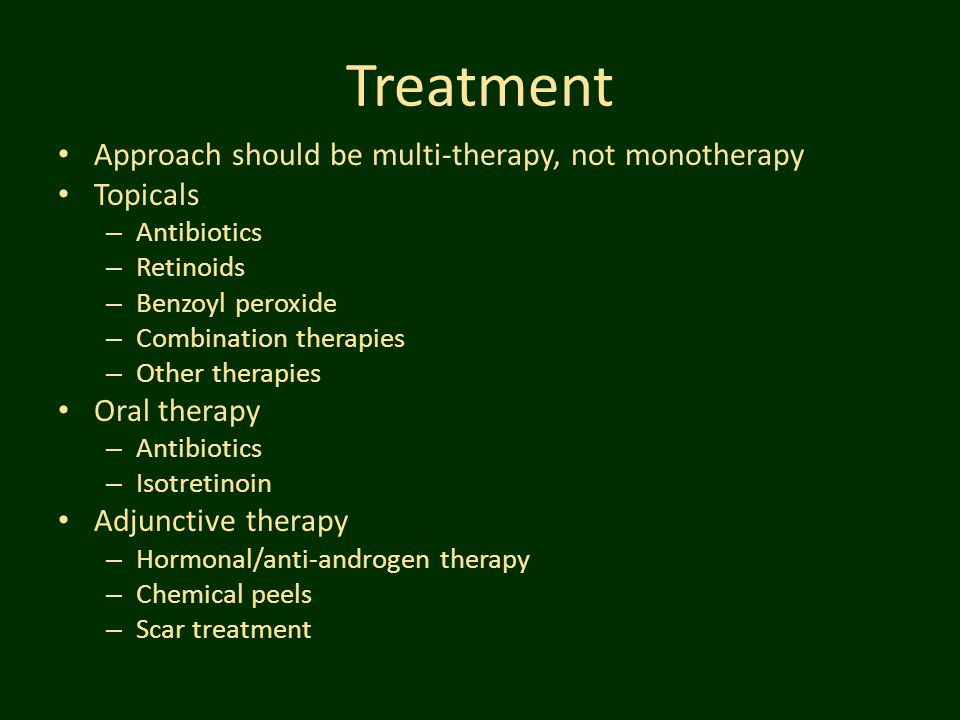 Treatment Approach should be multi-therapy, not monotherapy Topicals