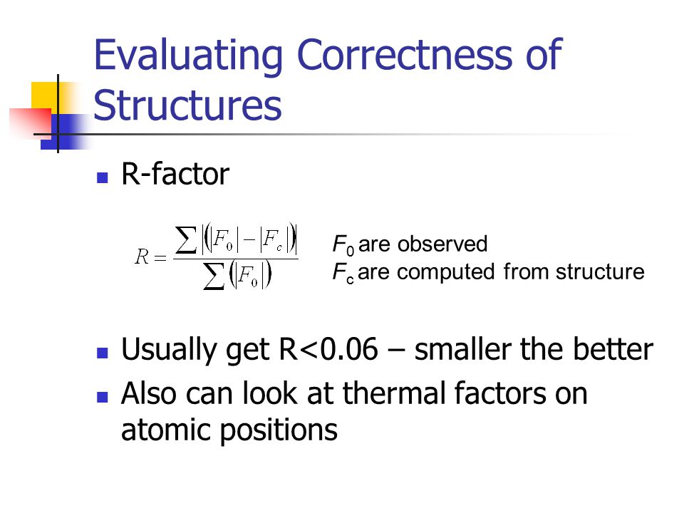 Evaluating Correctness of Structures
